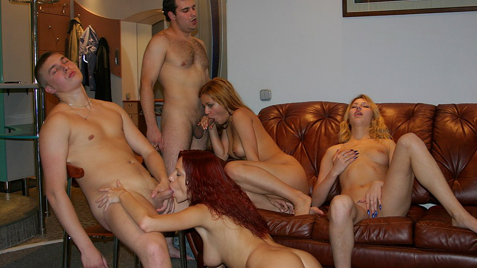 Playful Lovely Soiree Nymphs Tempt Wild Boys